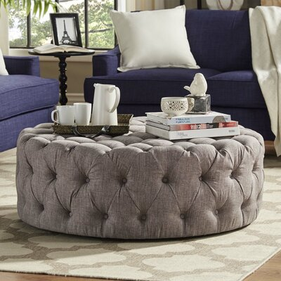 Michelle Ottoman Upholstery: Gray