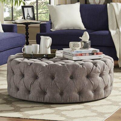 Laudalino Ottoman Upholstery: Gray