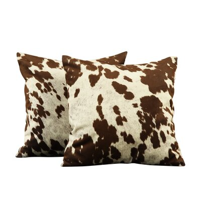 Margarida Square Cow Hide Print Throw Pillow