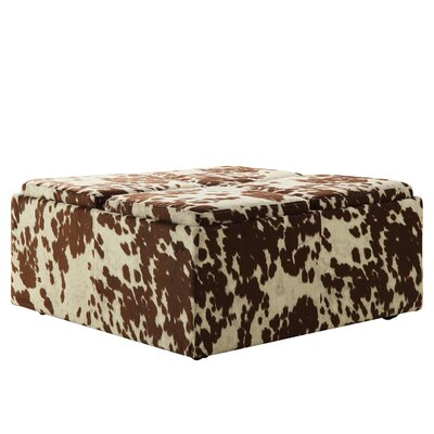 Mitchell Storage Cocktail Ottoman Color: Brown / White