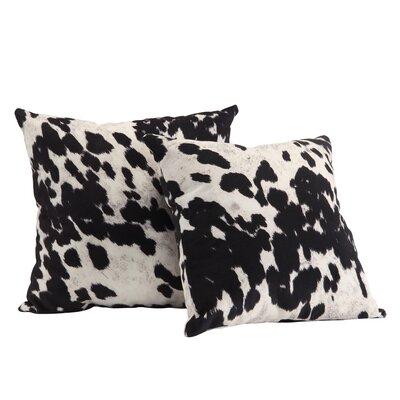 Margarida Cow Hide Print Throw Pillow