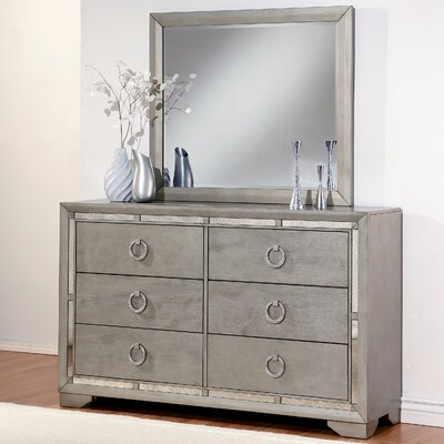 Greenwich 6 Drawer Double Dresser with Mirror