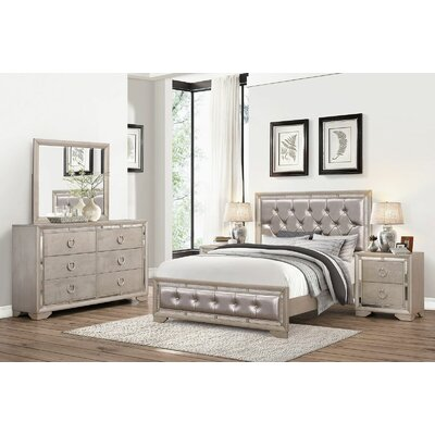 June Panel 5 Piece Bedroom Set Size: Queen