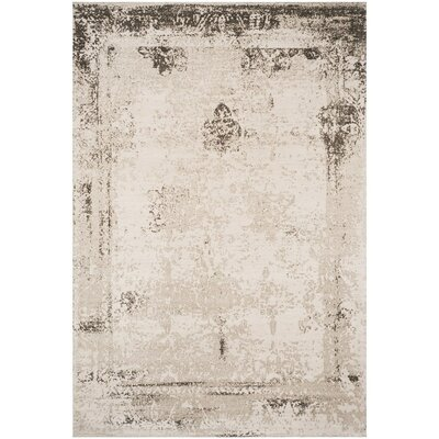 Lavelle Anthracite Area Rug Rug Size: Rectangle 67 x 92