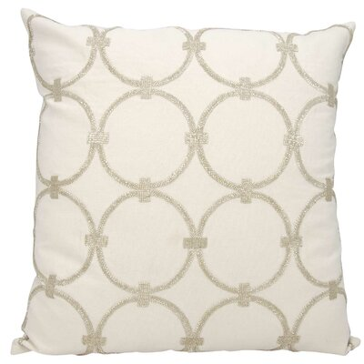 Jason Cotton Pillow Cover Color: Silver