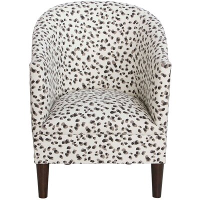 Diana Barrel Chair Upholstery: Snow Leopard Linen