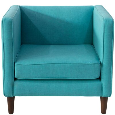 Joanne Fabric Arm Chair Color: Peacock