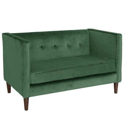 Diego Chesterfield Loveseat Upholstery Color: Jade
