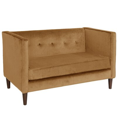 Diego Chesterfield Loveseat Upholstery: Moccasin