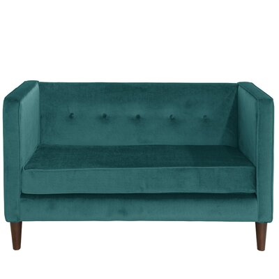 Diego Chesterfield Loveseat Upholstery: Peacock