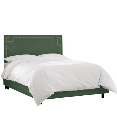 Diego Upholstered Panel Bed Size: Queen, Headboard Color: Conifer Green