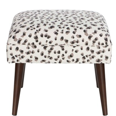 Joanne Snow Leopard Linen Ottoman