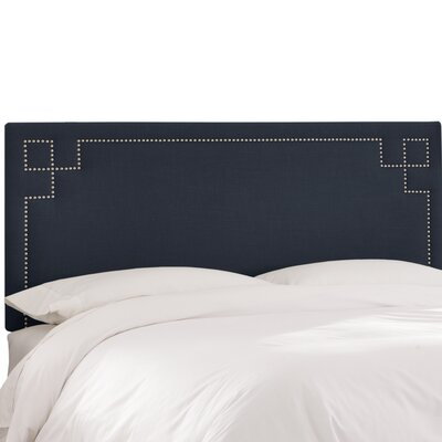 Joanne Upholstered Panel Headboard Upholstery Color: Navy, Size: Full