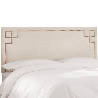 Diego Upholstered Panel Headboard Upholstery Color: Talc, Size: Queen