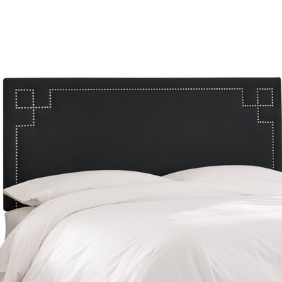 Diego Upholstered Panel Headboard Size: King, Upholstery Color: Black
