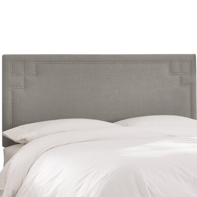 Diego Upholstered Panel Headboard Size: Twin, Upholstery Color: Gray