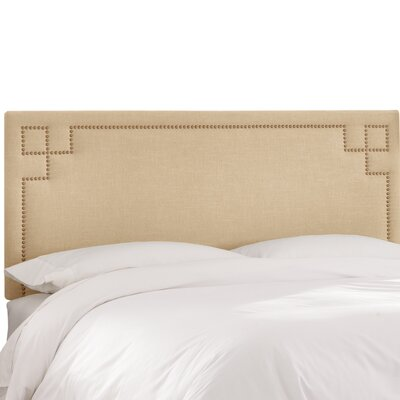 Diego Upholstered Panel Headboard Size: Queen, Upholstery Color: Sandstone