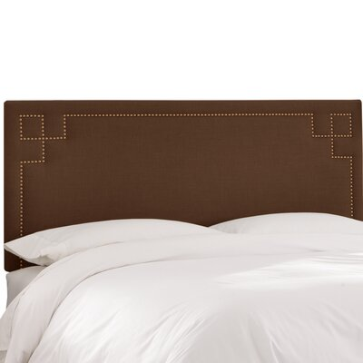 Diego Upholstered Panel Headboard Size: Queen, Upholstery Color: Chocolate