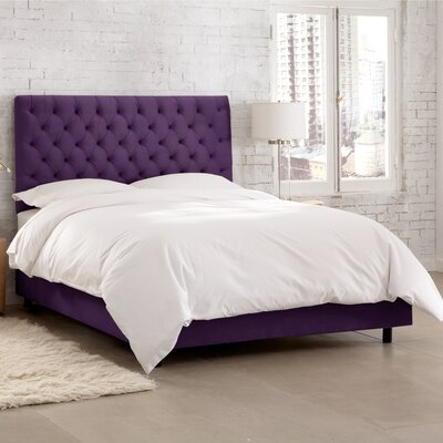 Hartwell Upholstered Panel Bed Size: Twin, Headboard Color: Berry