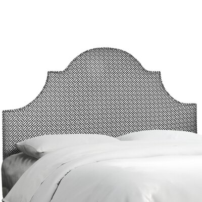 Brett Upholstered Panel Headboard Size: Twin, Upholstery Color: Cross Section Licorice