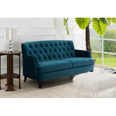 Janvey Sofa Upholstery: Satin Teal