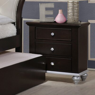 Johnny 3 Drawer Nightstand