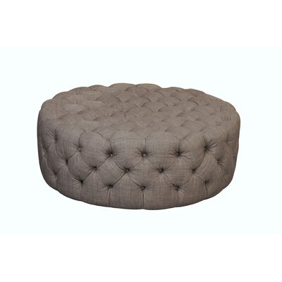 Edvin Round Ottoman Upholstery: Brown