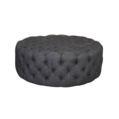 Edvin Round Ottoman Upholstery: Grey