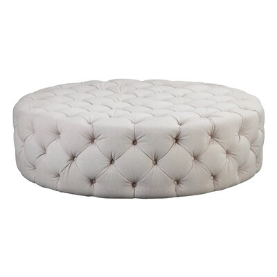 Edvin Round Ottoman Upholstery: Beige