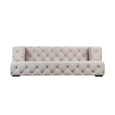 Audree Chesterfield Sofa Upholstery: Beige