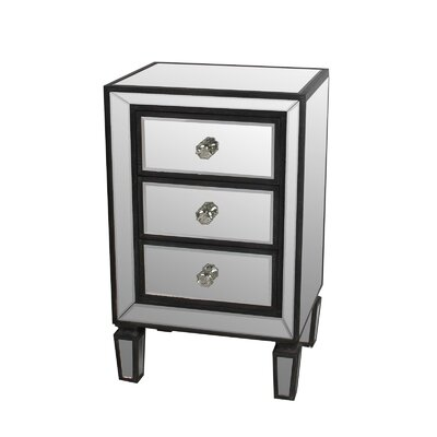 Kara 3 Drawer Nightstand