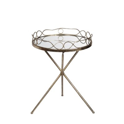 Kerrie End Table Finish: Gold