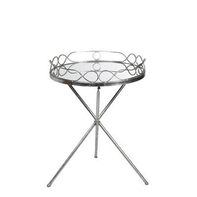 Kerrie End Table Finish: Silver