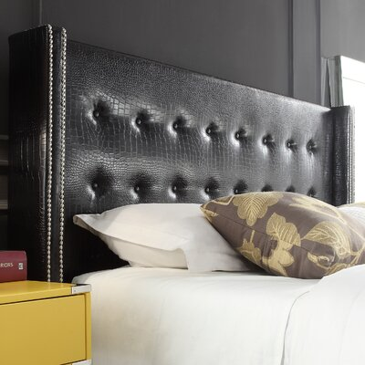 Gittan Tufted Upholstered Wingback Headboard Size: Queen