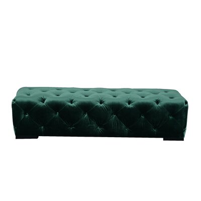 Katharine Upholstered Bedroom Bench Color: Green