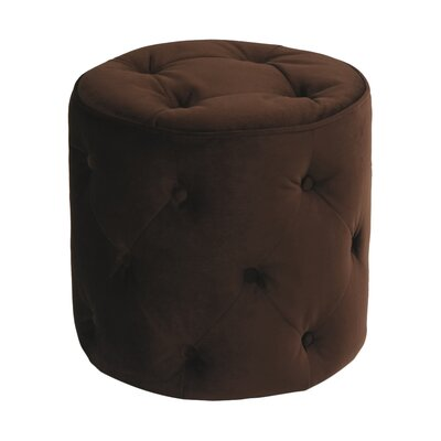 Elvie Ottoman Upholstery: Chocolate