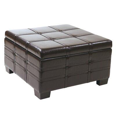 Hattie Strap Leather Ottoman Upholstery: Espresso