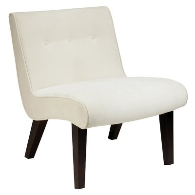 Elvie Velvet Slipper Chair Frame Finish: Oyster