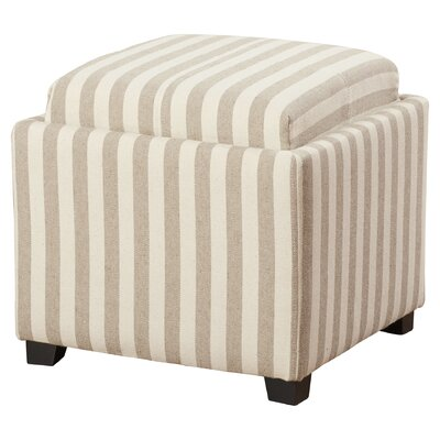 Brandon Single Tray Storage Ottoman Upholstery: Cream/Tan
