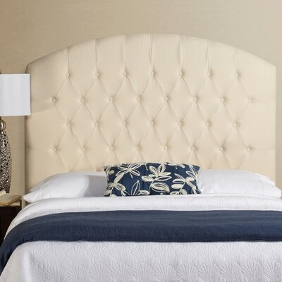 Lesa Tall Curved Upholstered Headboard Size: Tall Queen, Upholstery: Ivory