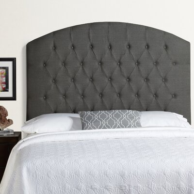 Lesa Tall Curved Upholstered Headboard Size: Tall Queen, Upholstery: Grey