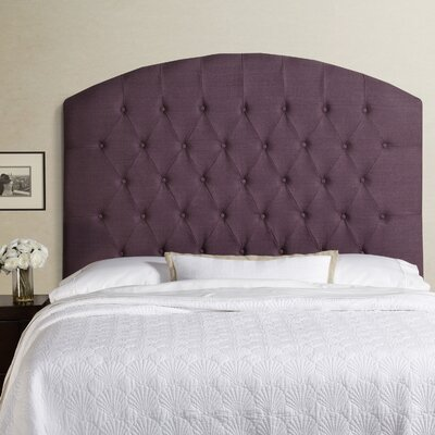 Lesa Tall Curved Upholstered Headboard Size: Tall Full, Upholstery: Iris