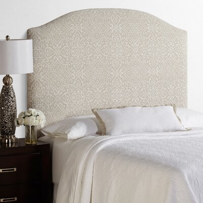 Lesa Palermo Arched Upholstered Headboard in Taupe Size: Tall Full