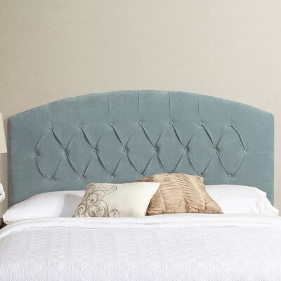Sherburne Curved Upholstered Headboard Size: King, Upholstery: Blue