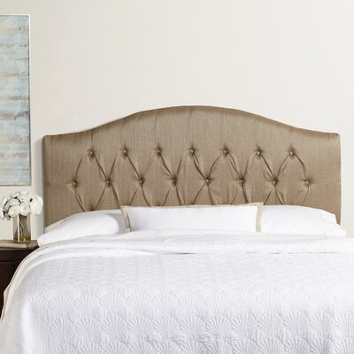 Sherburne Herringbone Arched Upholstered Headboard Size: King