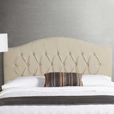 Sherburne Diamond Arched Upholstered Headboard Size: King, Upholstery: Ivory