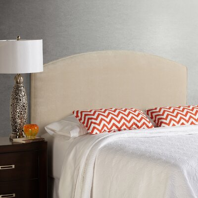 Lesa Velvet Curved Upholstered Headboard Size: Queen