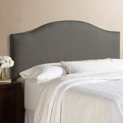 Lesa 100% Linen Arched Upholstered Headboard Size: King, Upholstery: Grey