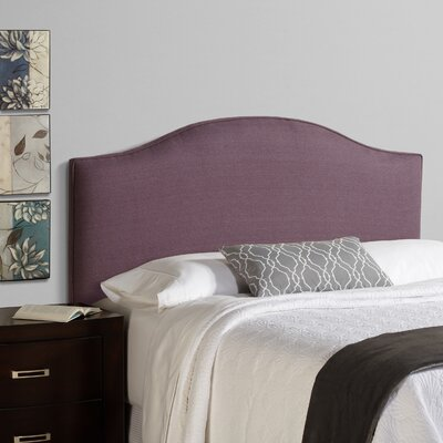 Lesa 100% Linen Arched Upholstered Headboard Size: Full, Upholstery: Iris