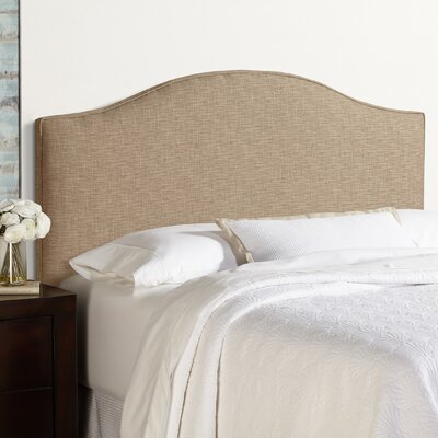 Sherburne Arched Upholstered Headboard with Metal Frames Size: Queen, Upholstery: Dark Chocolate